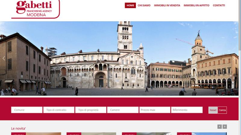 sito web immobiliare www.gabettimodena.it