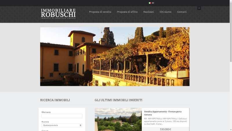 sito web agenzia immobiliare www.immobiliarerobuschi.it
