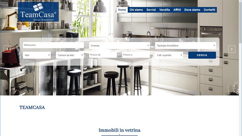 sito web agenzia immobiliare www.teamcasa.net
